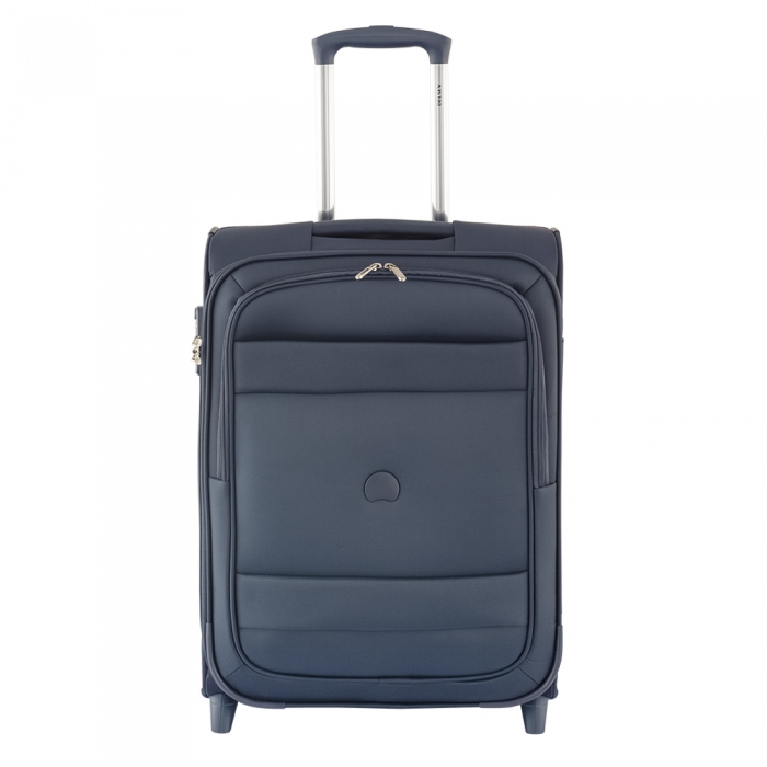 delsey indiscrete slim 2 wiel handbagage koffer 55 upright midnight blue luggage 4 all. Black Bedroom Furniture Sets. Home Design Ideas