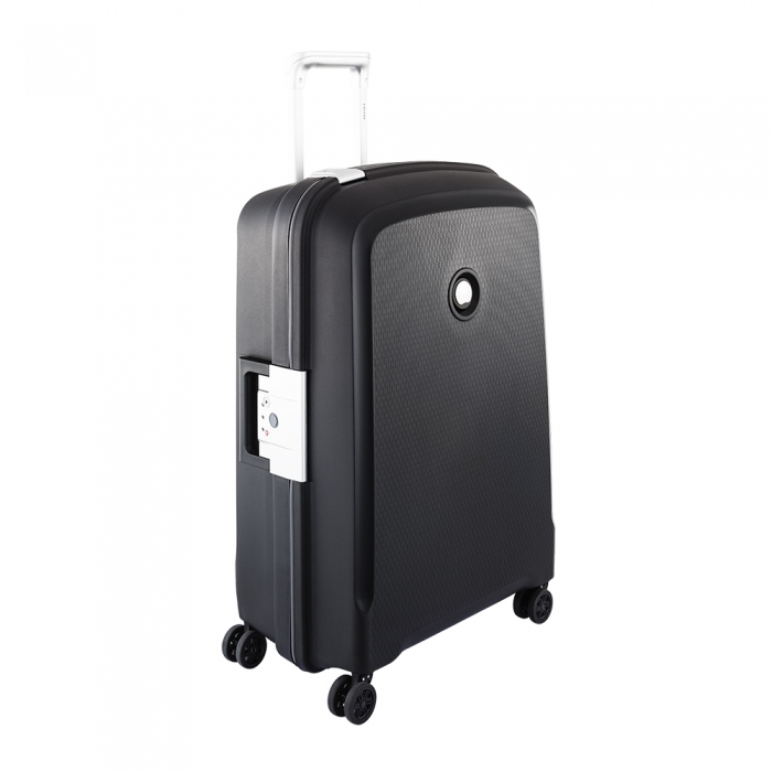 delsey belfort plus medium 4 wiel koffer 70 spinner black luggage 4 all. Black Bedroom Furniture Sets. Home Design Ideas