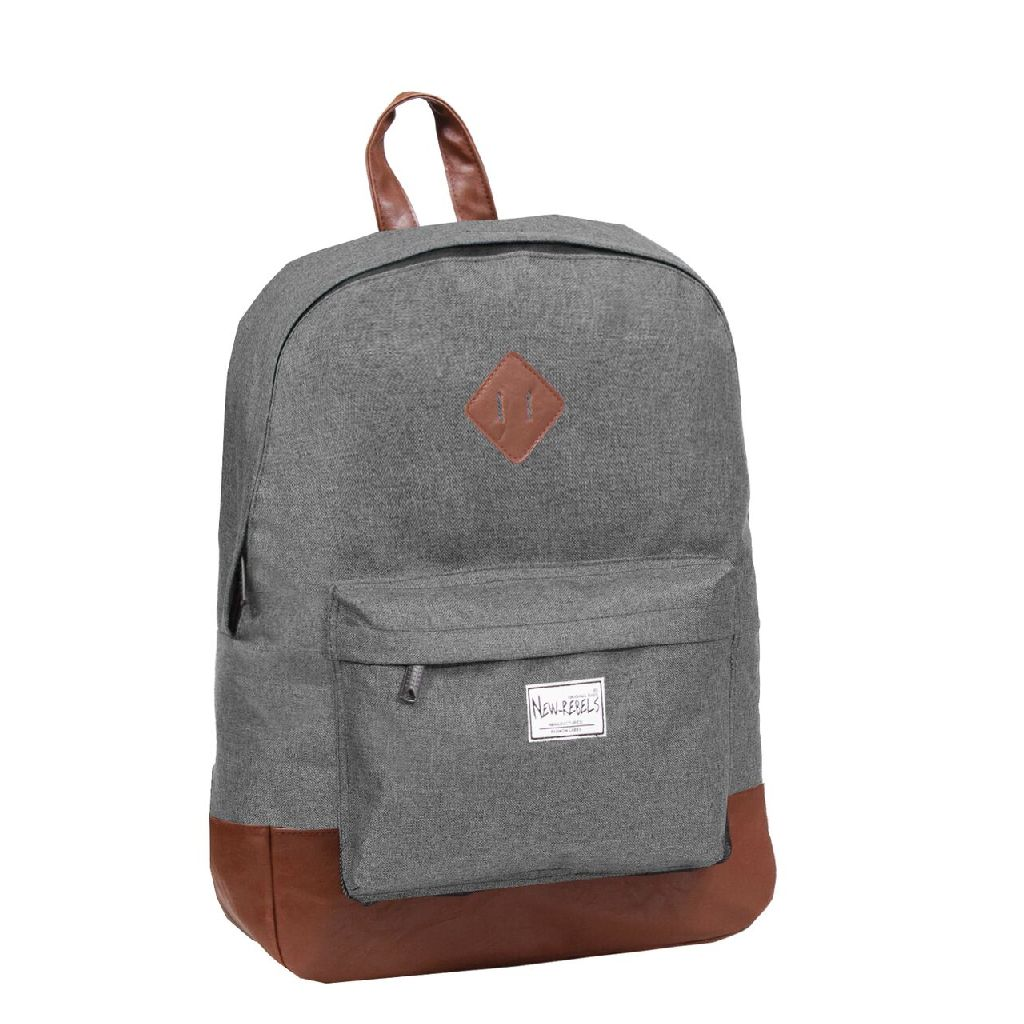 888a92db840 New Rebels laptop rugzak Basic Plus Accent antraciet - Luggage 4 All