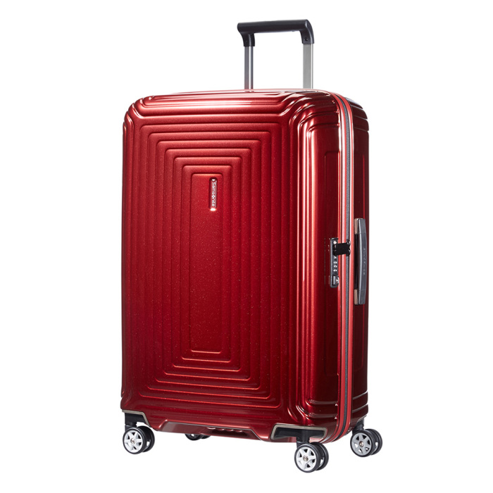 samsonite neopulse spinner 69 metallic red luggage 4 all. Black Bedroom Furniture Sets. Home Design Ideas