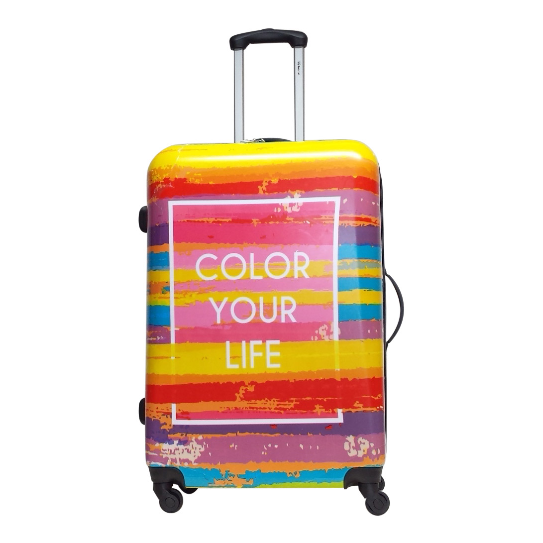 benzi colour your life pc large koffer 75 cm multicolour luggage 4 all. Black Bedroom Furniture Sets. Home Design Ideas