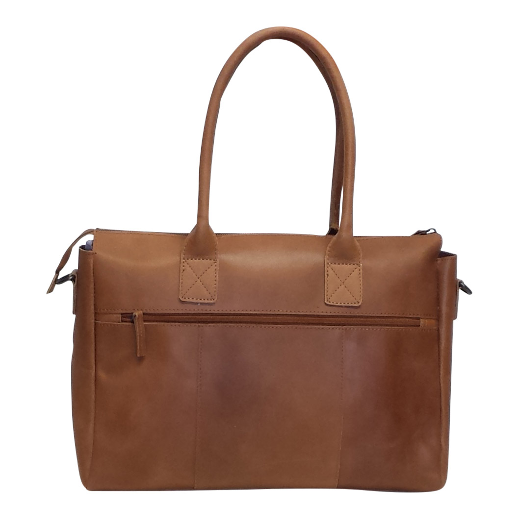 0c5ff18022e Castillo leren schoudertas / shopper Zulia 13,3 inch cognac - Luggage 4 All