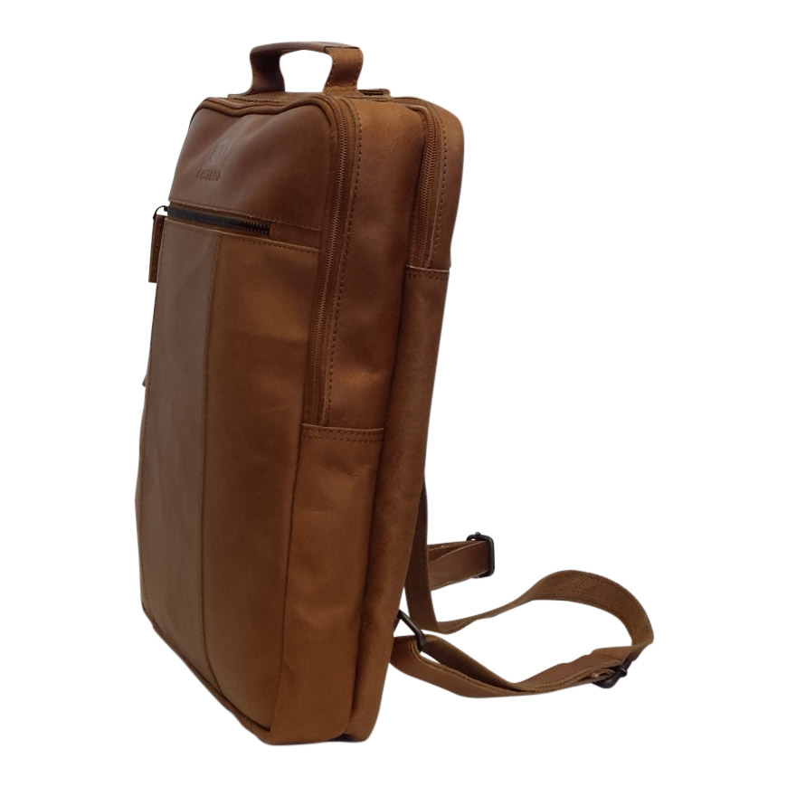 d90dc85f264 Castillo leren rugtas Falcon 15,6 inch cognac - Luggage 4 All